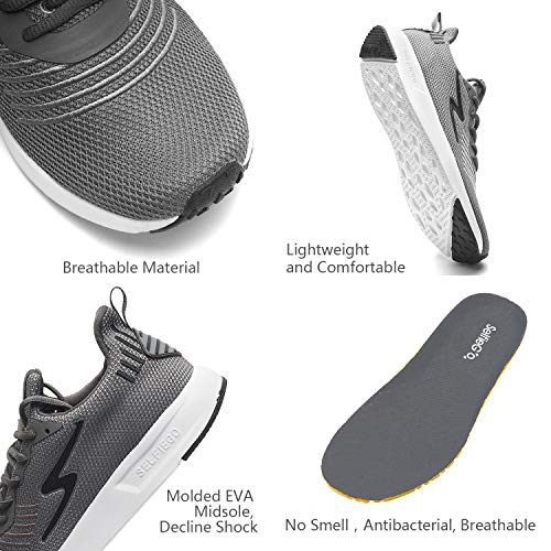 51g6BsWFrVL. SS500  - SelfieGo Mens Casual Mesh Walking Shoes - Fashion Athletic Sport Running Sneaker Comfortable Breathable Lightweight