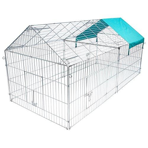 Eugad pollaio galline in metallo recinto per cagnolino conigli piccoli animali conigliera recinzione rete giardino 0200ht