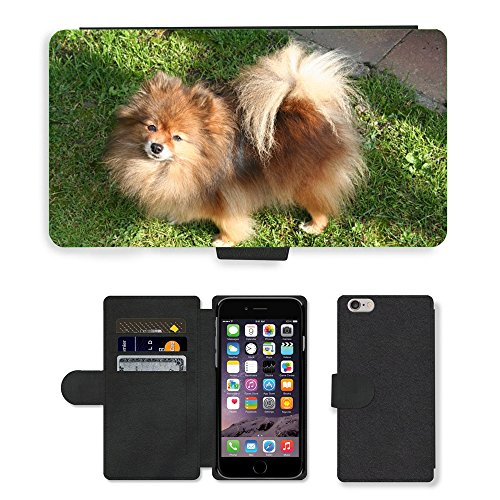 Just Mobile pour Hot Style Téléphone portable étui portefeuille en cuir PU avec fente pour carte//m00140075 Nain K orange-sable Doggy Guard pour chien//Apple iPhone 6 Plus 14 cm