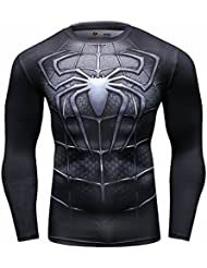 Cody Lundin Homme Spider Héros T-shirt Collant Manches Longues, Sport Fitness Shirt