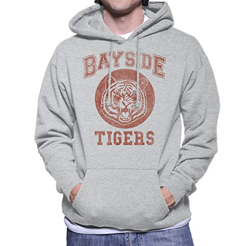 Cloud City 7 Saved by The Bell Inspired Bayside Tigers Men's Hooded Sweatshirt -