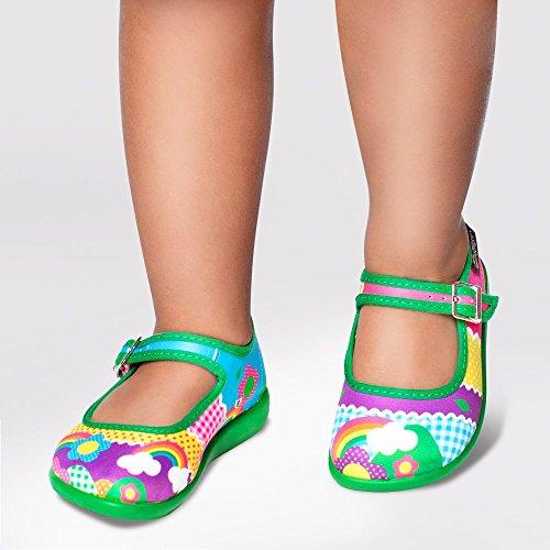 Hot Chocolate Design Mini Chocolaticas Kinder Mary Jane Mädchen-Flachschuh Mehrfarbig
