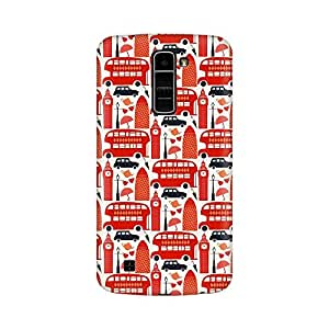 Mobicture The Red Bus Premium Printed High Quality Polycarbonate Hard Back Case Cover for LG K7 With Edge to Edge Printing