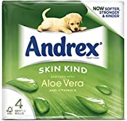 Andrex Aloe Vera Toilet Tissue, 4 Rolls (White)
