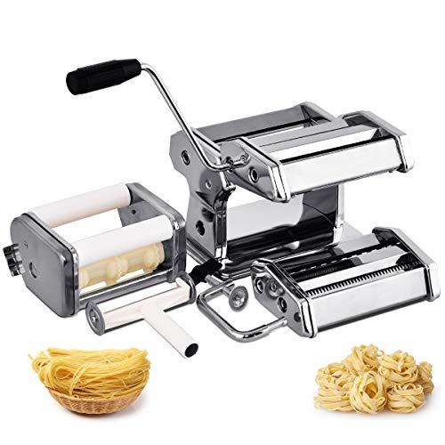 GOPLUS Nudelmaschine Edelstahl Pastamaker Pastamaschine Spaghetti Nudeln Küche Maschine Nudel Maschine für frische Pasta