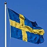 Jooks Schweden Flagge Europa Länder Nationalflaggen Fahne Schweden Flagge Fahne 5ft x 3ft(150*90cm)