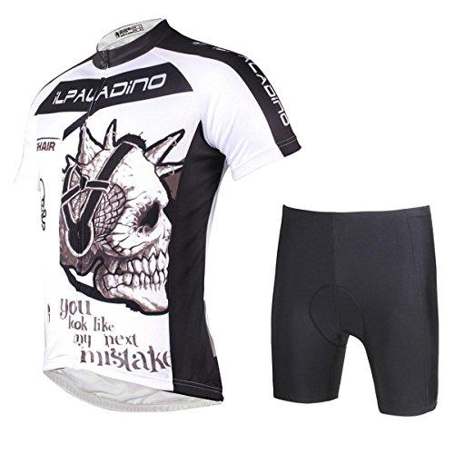 Radfahren Jersey mit Shorts Herren Fahrradbekleidung Polyester Schnell trocknend Ultraviolett Resistent Breathable Vergleichen Fahrrad Tight Short-Sleeved Shorts Anzug , xxl