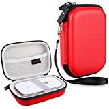 Canboc Shockproof Carrying Case Storage Travel Bag For HP Sprocket Portable Photo Printer/Polaroid Zip Mobile Printer Protective Pouch Box,Red