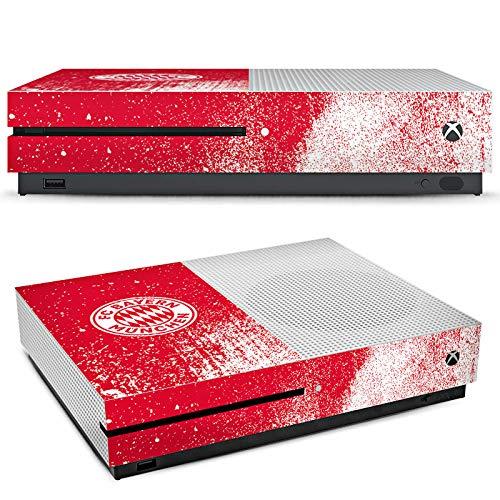 DeinDesign Microsoft Xbox One S Folie Skin Sticker aus Vinyl-Folie Aufkleber FC Bayern München FCB Sprayart