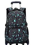 Hemio Unisex Schultasche Jungen Schulrucksäcke Nylon Trolley Tasche Portable Freizeitrucksack CasualRucksack für Schule Travel Reisen (Blau)