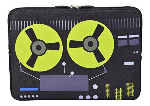 MySleeveDesign Laptoptasche Notebooktasche Sleeve für 10,2 Zoll / 11,6 - 12,1 Zoll / 13,3 Zoll / 14 Zoll / 15,6 Zoll / 17,3 Zoll - Neopren Schutzhülle mit VERSCH. DESIGNS - Recorder [10]