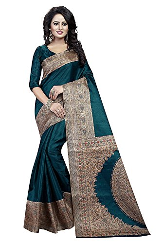 Sarees (for Women Party Wear offer Sarees New Collection Today Low Price Sarees in Multi-coloured Bhagalpuri Silk Material Latest Saree With Blouse Free Size Beautiful Sarees With Blouse)