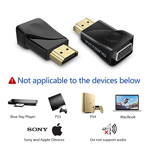 XZANTE USB-C USB3.1 Tipo-C aplicable a Cable Adaptador VGA Macho a VGA Hembra Convertidor de Transferencia de Video 1080P Adecuado para Macbook 12 Pulgadas