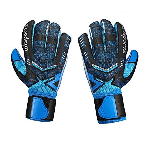 Babimax Torwarthandschuhe Fußballhandschuhe mit Fingersave, 4 mm Grip für Erwachsene Training Spiel