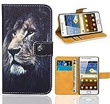 FoneExpert® Samsung Galaxy S2 i9100 Handy Tasche, Wallet Case Flip Cover Hüllen Etui Ledertasche Lederhülle Premium Schutzhülle für Samsung Galaxy S2 i9100