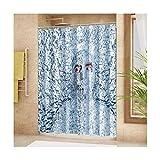 AnazoZ Anti-Schimmel Duschvorhang inkl. 12 Duschvorhangringe Mann Badewanne Vorhang Anti-Bakteriell Waschbar Wasserdicht PEVA für Badzimmer - Stil 3 180x180cm
