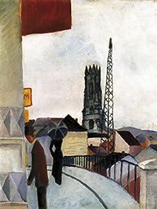 1art1 53452 August Macke - Kathedrale Zu Freiburg In Der Schweiz, 1914 Poster Kunstdruck 107 x 80 cm