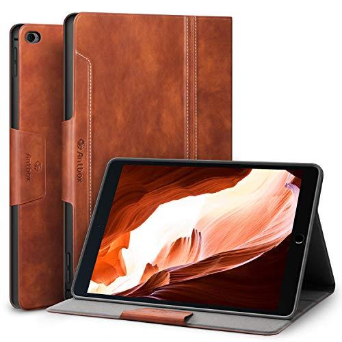 Antbox iPad Mini 4 Hülle, PU Ledertasche Schutzhülle mit Auto Sleep/Wake Ständer Funktion für iPad Mini 4 2015 Release (iPad Mini 4, Braun)