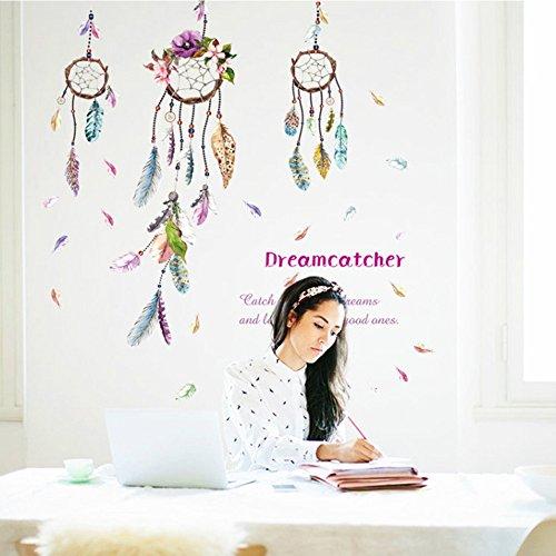 OLSR® Atrapasueños desmontable impermeable pegatina de pared Pegatinas Decorativas Adhesiva Pared Dormitorio Salón Guardería Habitación Bebés Infantiles Niños (A)