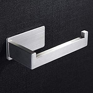 ZUNTO Porta Carta Igienica Acciaio Inox 304 - Portarotolo Carta Igienica Senza Foratura per Bagno e Toilette 51g6IPEYBfL. SS300