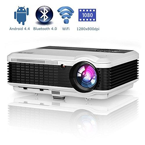 LCD LED Vidéoprojecteur Android 3500 lumens Home Cinéma Projecteur Bluetooth Cinéma intelligent de projection Player HDMI VGA USB