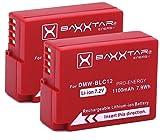 2X Baxxtar Pro (1100mAh) - Ersatz für Akku Panasonic DMW BLC12 E intelligenter Akku - Lumix DMC GX8 G70 G81 G7 G6 G5 FZ2500 FZ2000 FZ1000 FZ200 FZ300