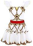 AmzBarley Disfraz de bailarina de Felicie Vestido de bailarina de ballet para ni?os Fiesta de rendimiento de ni?as 5-6 A?os