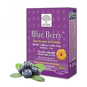 new nordic blueberry newnordic blue berry 60 comprim s hygi ne et soins du corps. Black Bedroom Furniture Sets. Home Design Ideas