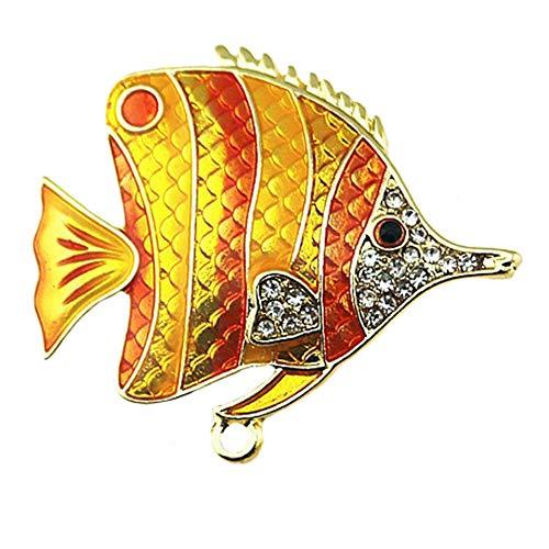 Wicemoon Broschen Pin Tropische Fisch Form Kleidung Dekoration Brosche Jacken Brosche Schals Broschen für Damen. -