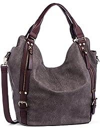 iYaffa Handtaschen Damen Taschen Schultertaschen Umhängetaschen Handtaschen für Frauen PU Leder Tote Hobo Taschen Damen Henkeltaschen Groß (L:31CM * H:36CM * W:15CM)