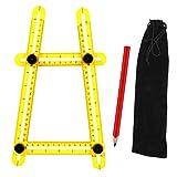 Sopoby Modèle Outil, multi-angle de mesure Règle, général de mesure tous les angles pour Établis, Constructeurs, Artisans