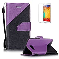 For Samsung Galaxy A5 (2016 Model) A510 Case [with Free Screen Protector},Funyye Stylish Premium Flip Magnetic Detachable PU Leather Wallet with Credit Card Holder Slots Smart Standing Folio Book Style Ultra Thin different color splicing Protective Case Cover Skin for Samsung Galaxy A5 (2016 Model)