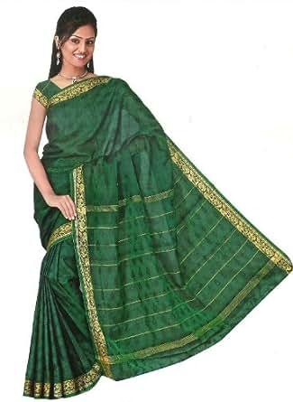 Bollywood Sari Kleid Regenbogen Grün