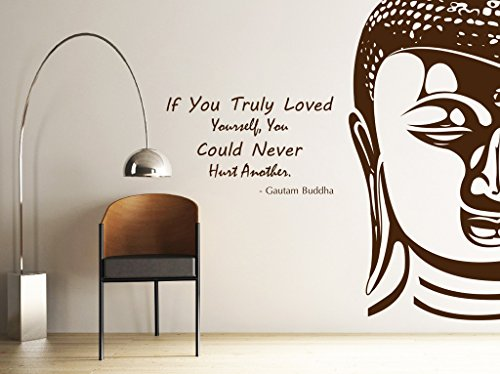 DECOR Kafe Decal Style Buddha Wall Sticker Wall poster (PVC vinyl, 101 X 83 CM)  available at amazon for Rs.749
