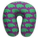 Yuerb Nackenhörnchen Memory Foam Neck Pillow,Hippo Travel Pillow Seitenschläferkissen