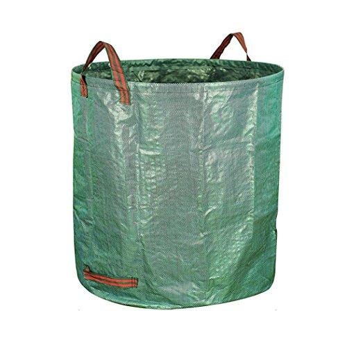 Bitriddis 272L Sacs à déchets de Jardin, Pliable réutilisable Aterproof Heavy Duty Grande Sacs avec poignées (Mximum Capacité de Charge : 50 kg).
