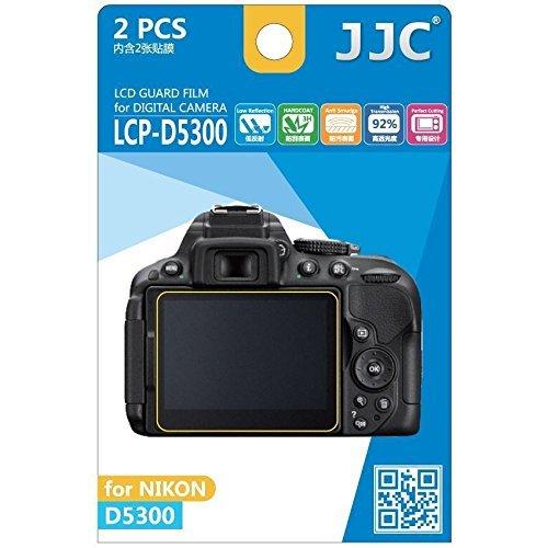 JJC Guard Film displayschutzfolie passgenau für Nikon D5300 - Anti-Kratzer Antireflex Displayschutz