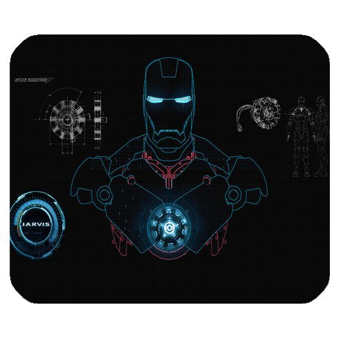 Preisvergleich Produktbild Custom Marvel Comics Hero Iron Man High Quality Printing Square Mouse Pad Design Your Own Computer Mousepad