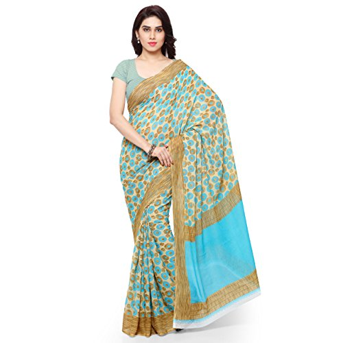 ANAND SAREES Faux Georgette Multi Colored Printed Saree With Blouse Piece (1171_1 )  available at amazon for Rs.249