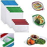 SioTM Fridge Reusable Vegetable & Fruit Net Bag ( Pack Of 12 Bags )