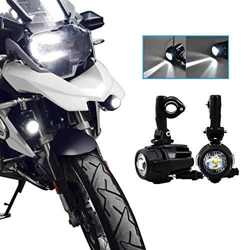 Motociclo LED Luce di Nebbia del Fascio di Punto Fendinebbia Led Cromati per Universale Moto-Waterproof