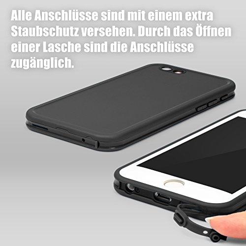 Original Urcover® Touch Case für das Apple iPhone 6 / 6s Hülle Cover Schutz für Vorder- und Rückseite Handyhülle mit Displayschutz [deutscher Fachhandel] Etui Schwarz/Schwarz Schwarz/Weiß