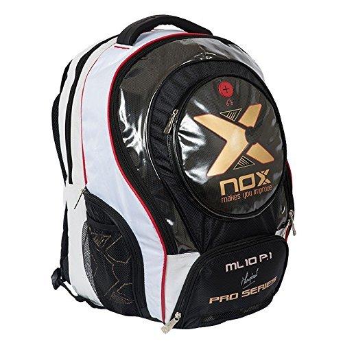 Nox Ml10 Pro P.1 Mochila de Pádel, Unisex Adulto, Blanco, Talla Única