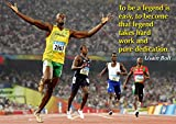 Motivational quote - Usain Bolt poster #2 - 2016 Rio olympic gold champion #1 - Rio 2016 Athletics - Motivation Poster - Quote Sign Poster Print Picture - Motivational quote - SPORTS, BOXING, CYCLING, ATHLETICS, BODYBUILDING, TRIATHLON, BASKETBALL, FOOTBALL, RUGBY, SWIMMING, BOXING, MARTIAL ARTS A3 Poster