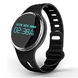 Wasserdichte IP67 Smart Armband System Halskette Band Schrittzähler Fitness Watch Step Counter Smart Wristband für Schwimmen Tauchen, Black