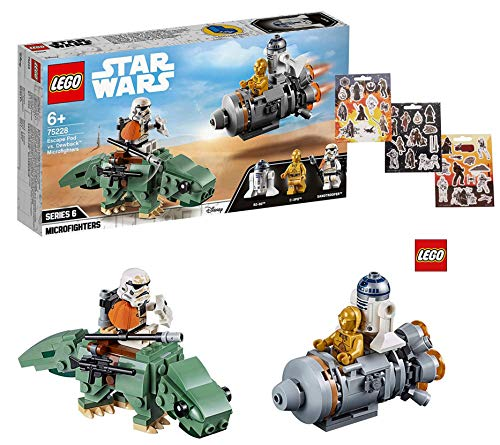 LEGO Star Wars 75228 Escape Pod vs. Dewback Microfighters + 1 Bogen Star Wars Sticker gratis (Star Wars Dewback)