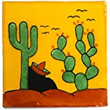 Mexican tile sleeping mexican fair trade ceramic by Tumia LAC
