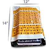 Dynaflex Amazon.in Branded Premium Polybag with Document Pouch (Size -14 Inches X 12 Inches, Count - 100 Polybags)