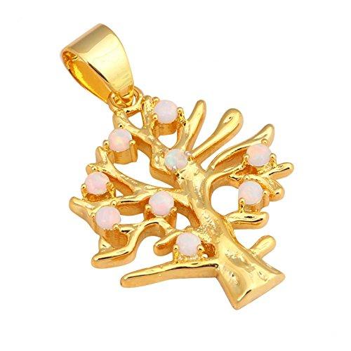 Bling fashion regalo per Natale Albero Bianco Stile Bianco Opale di fuoco argento 925collane ciondoli Fashion Jewelry ops545a