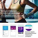 Fitness Tracker, Mpow IP68 Wasserdichte Smart Fitness Armbänder mit Pulsmesser, OLED Bildschirm Herzfrequenz Monitor Schwimmsportuhr Aktivitätstracker Podometer für Android iOS Smartphones z.B. iPhone 7/7 Plus/6S/6/5/5S, Samsung S8/S7, Huawei, LG, Sony, schwarz - 4